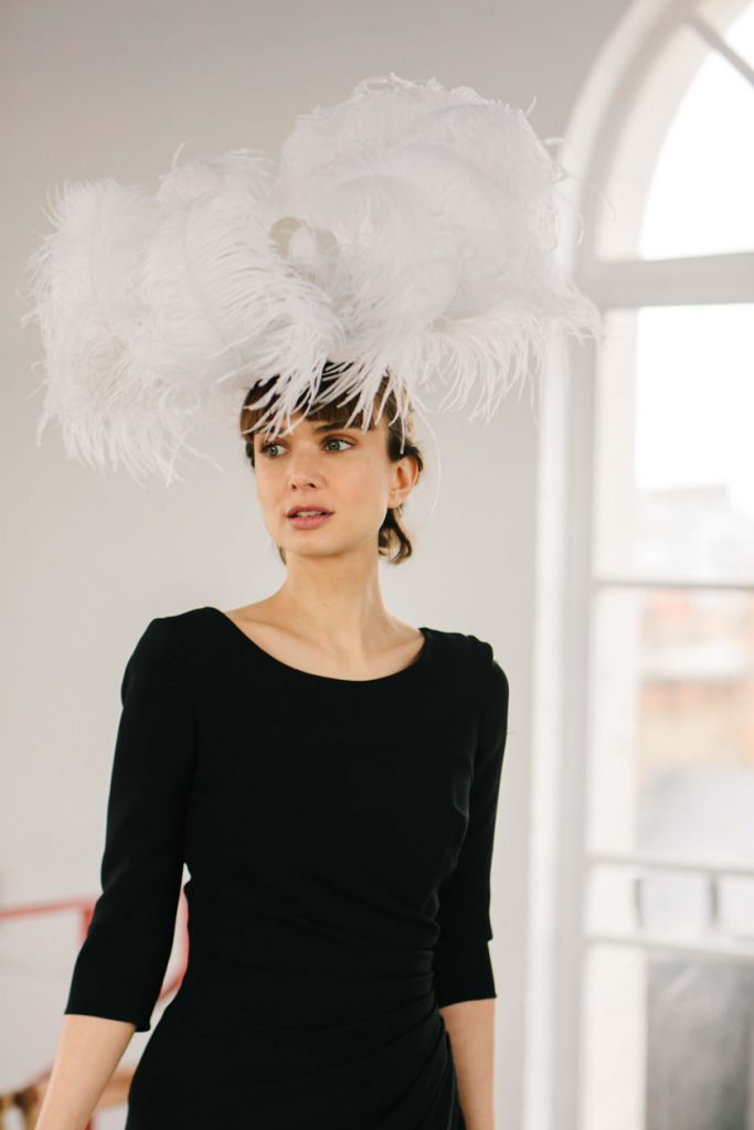 ostrich feathers trim hats