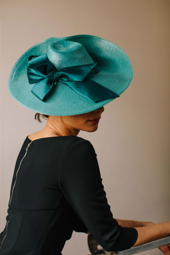 turquoise millinery bow