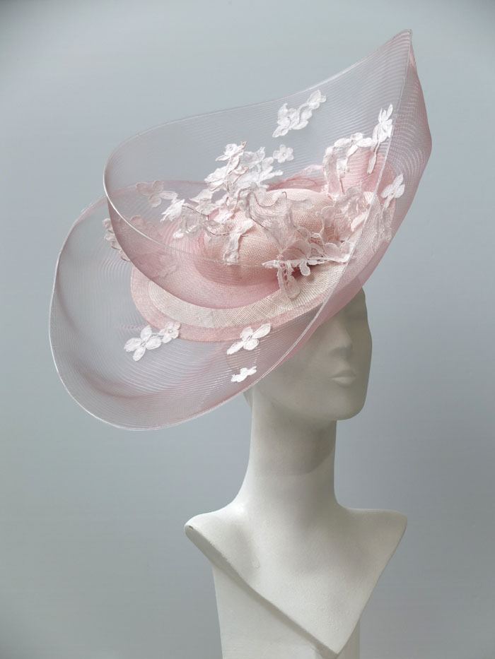 lace layered brim