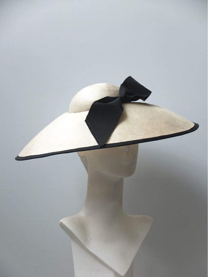 audrey straw cloche