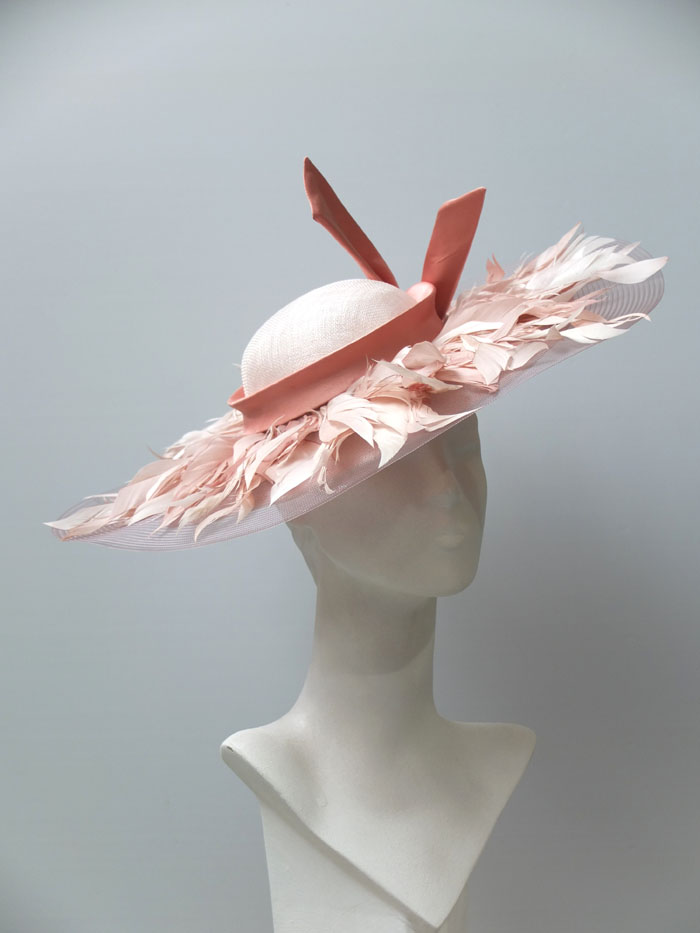 dusty pink bridal feather