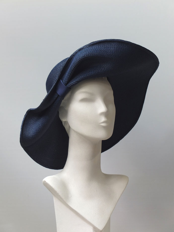 pleated summer straw hat