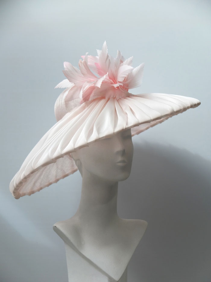 pleated pink organza