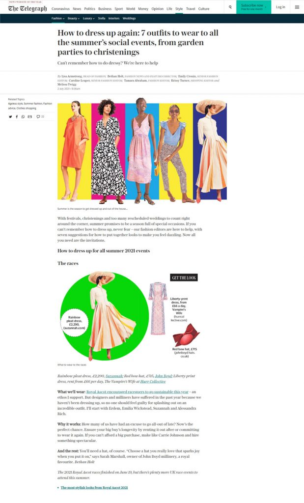 summer event outfits millinery daily telegraph